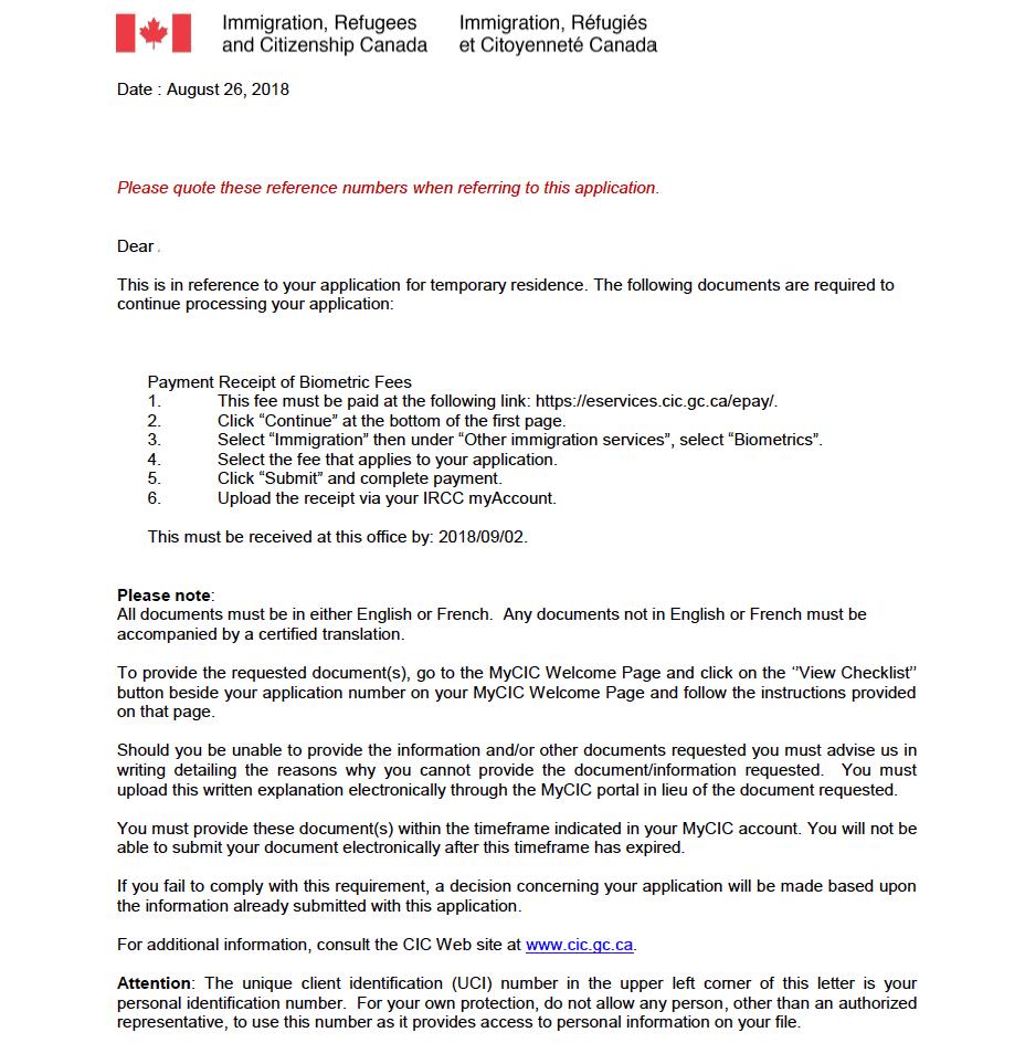 Pruebas Biométricas Canadá - Estudiante & Working Holiday ...
